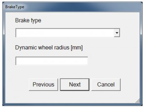 With the software the parameters for the brake configuration can be coded