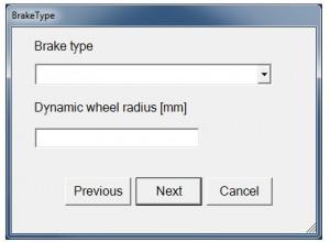 software rem controller voor ingeven gebruikte rem configuratie