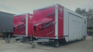 Tesla beurs wagen elektrische auto's
