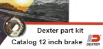 JMR Boopark catalog of 12 inch Dexter Axle brakes.