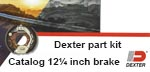 JMR Boopark catalog of 12¼ inch Dexter Axle brakes.