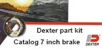 JMR Boopark catalog of 7 inch Dexter Axle brakes.