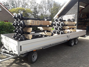 full trailer with electric brake system with electric brakes.